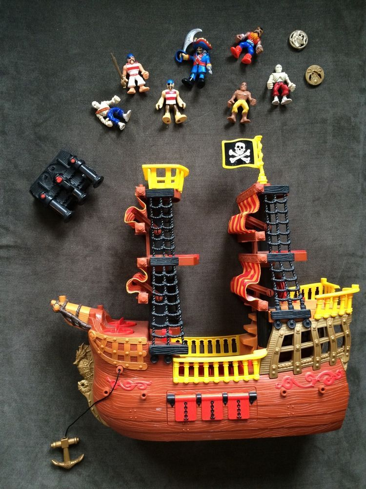Fisher Price Imaginext Adventures Pirate Ship W