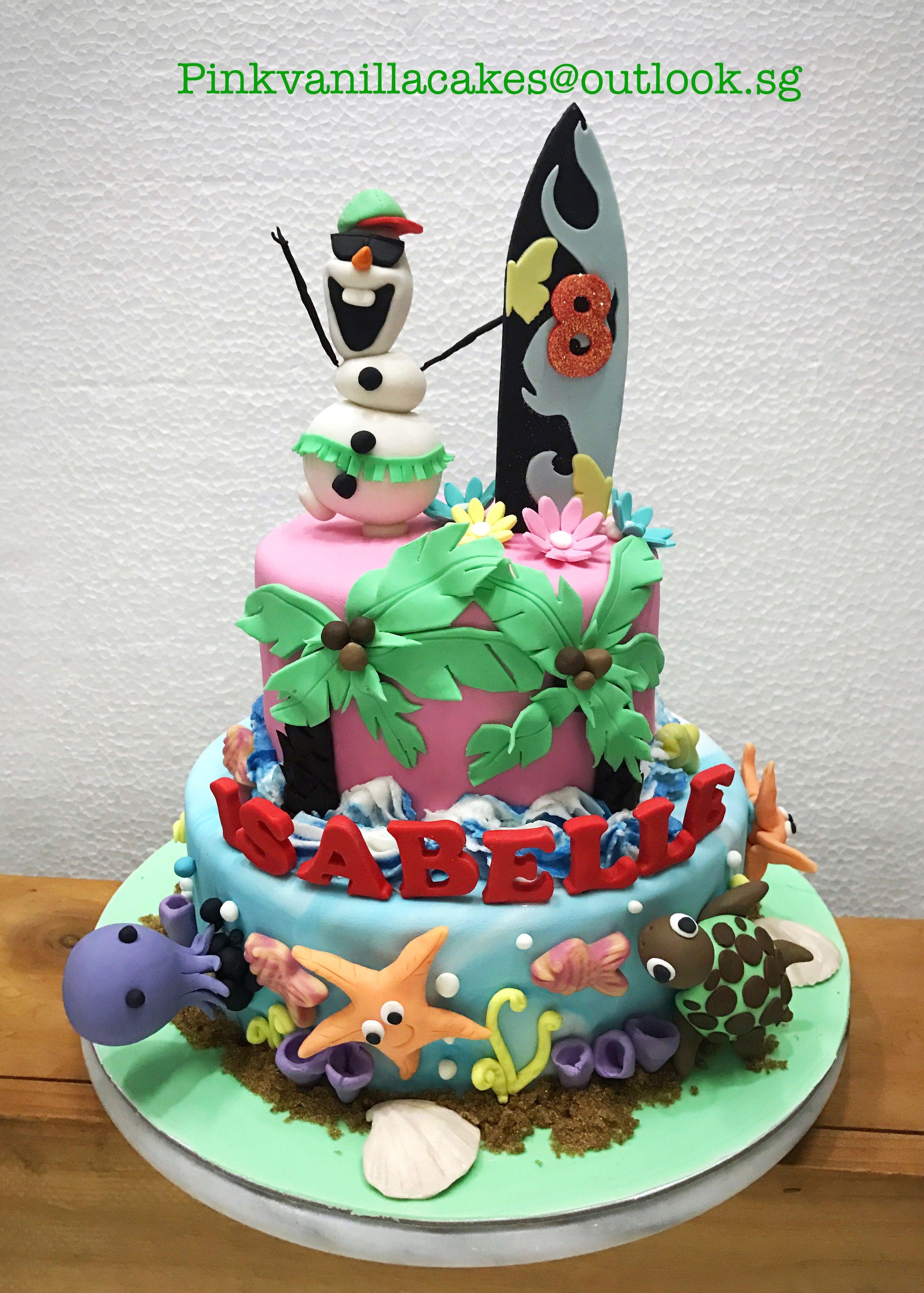 Kids Birthday Cake Singapore Ola Beach Birthday Cake Kids