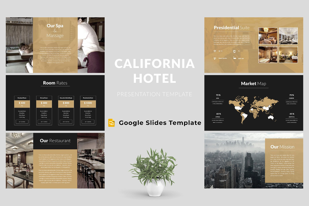 Hotel Google Slides Template Keynote Template Powerpoint Templates Presentation Templates