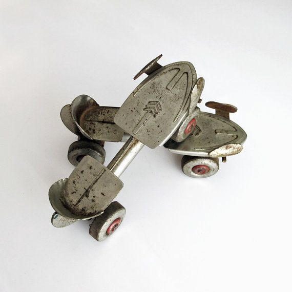 Vintage Flyaway Roller Skates Sears Roebuck by tagandtibby on Etsy, $15.00