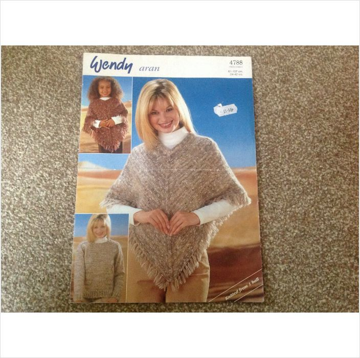 Sweater And Poncho In Wendy Aran Fancy Pattern No 4788 Knitting