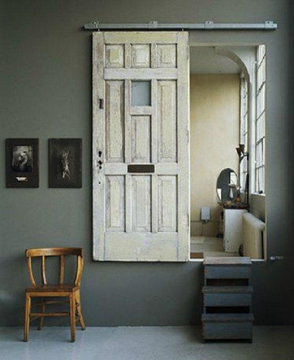 Jolies Cuisines Dans Fixer Upper Total Renovation: Old Door Becomes New Sliding Door