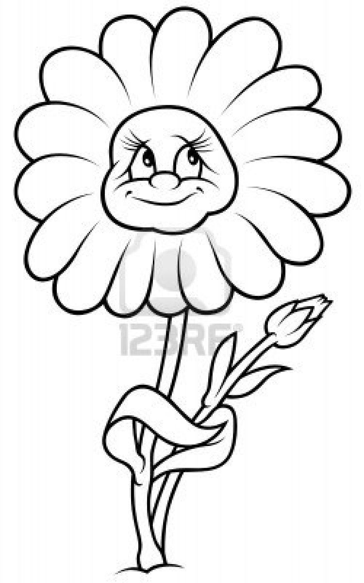 Image Detail For Daisy Flower Black And White Cartoon