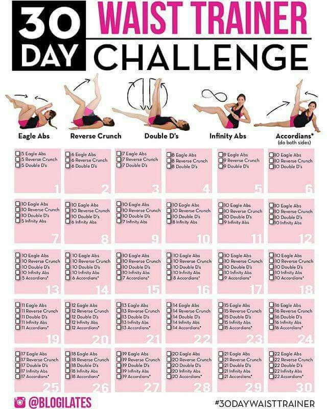 30 day waist training challenge
