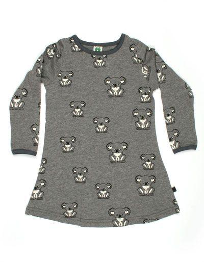 Smafolk - Meleegrijs jurkje met koala's