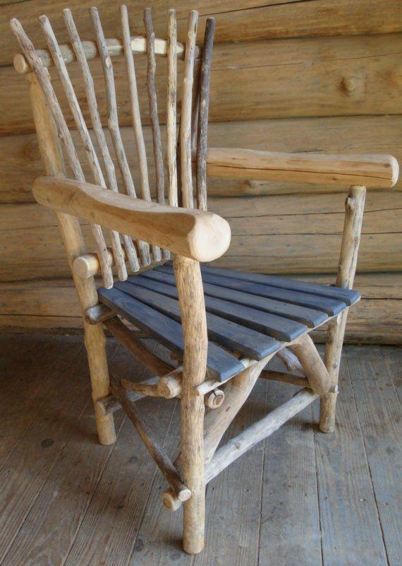 hand made driftwood armchair | RusticMount\'nMagic Design | Pinterest ...