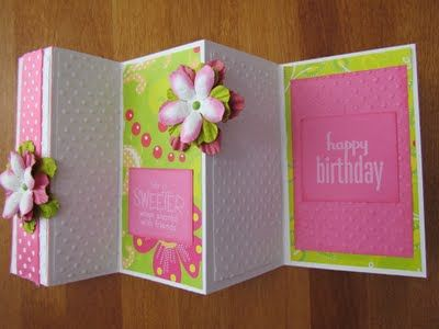 TriFold Card  Ribbons  Glue Blog    Tri Fold Cards