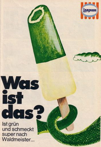 Langnese Ice Lolly Grünofant Popsicle