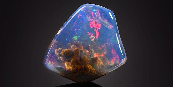 Gorgeous Gemstone Looks Like a Nebula is Trapped Inside - My Modern Met