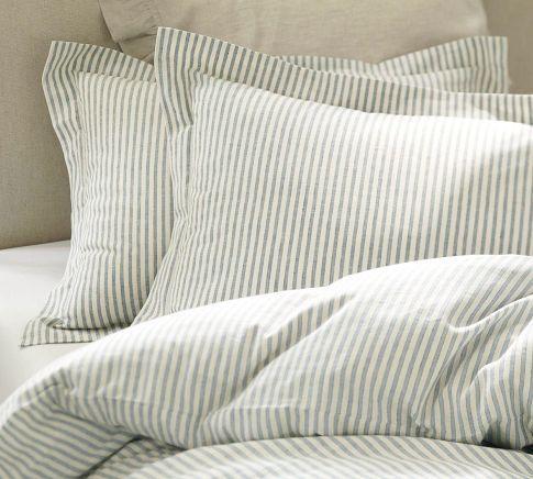 Vintage Ticking Stripe Duvet Cover Shams Ticking Stripe Bedding Striped Duvet Covers Striped Duvet