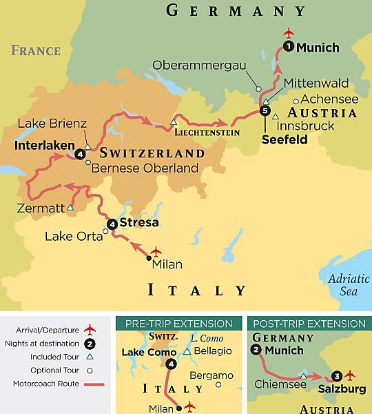Europe Tour Italy Germany Austria Switzerland Grand Circle