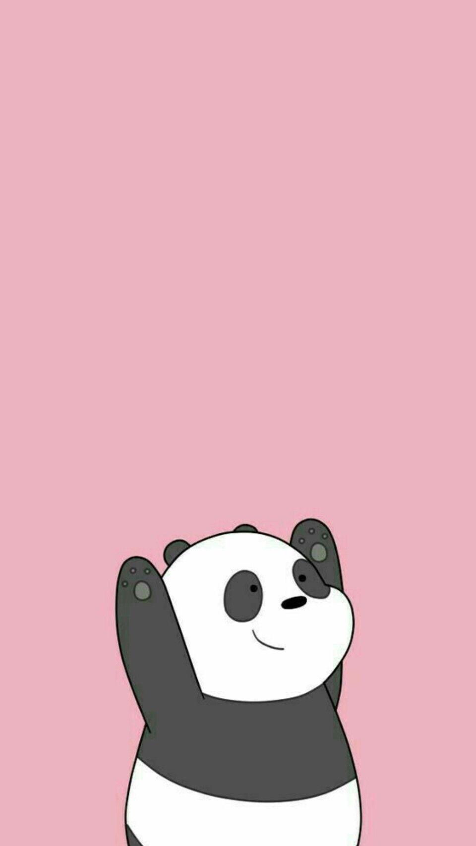 Panda Pink Wallpaper Kartun Ilustrasi Kartun Boneka Hewan Cute cute panda cartoon wallpaper