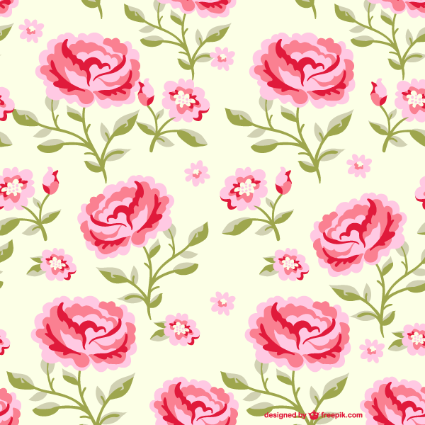 Seamless Rose Flowers Pattern Illustrator In 2020 Floral Pattern Vector Flower Backgrounds Pattern Illustration