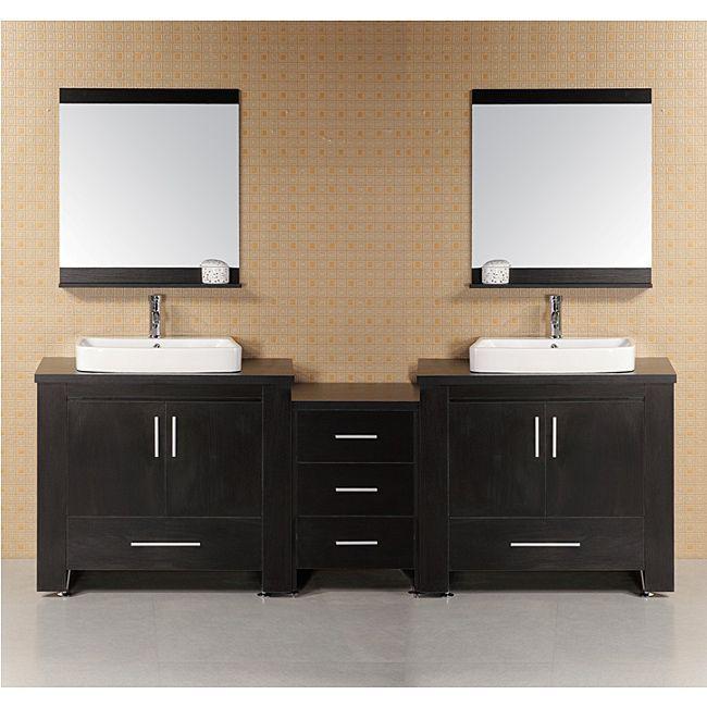 Design Element Washington Modular Doublesink Bathroom Vanity Set Fascinating Design Element Bathroom Vanity Decorating Inspiration