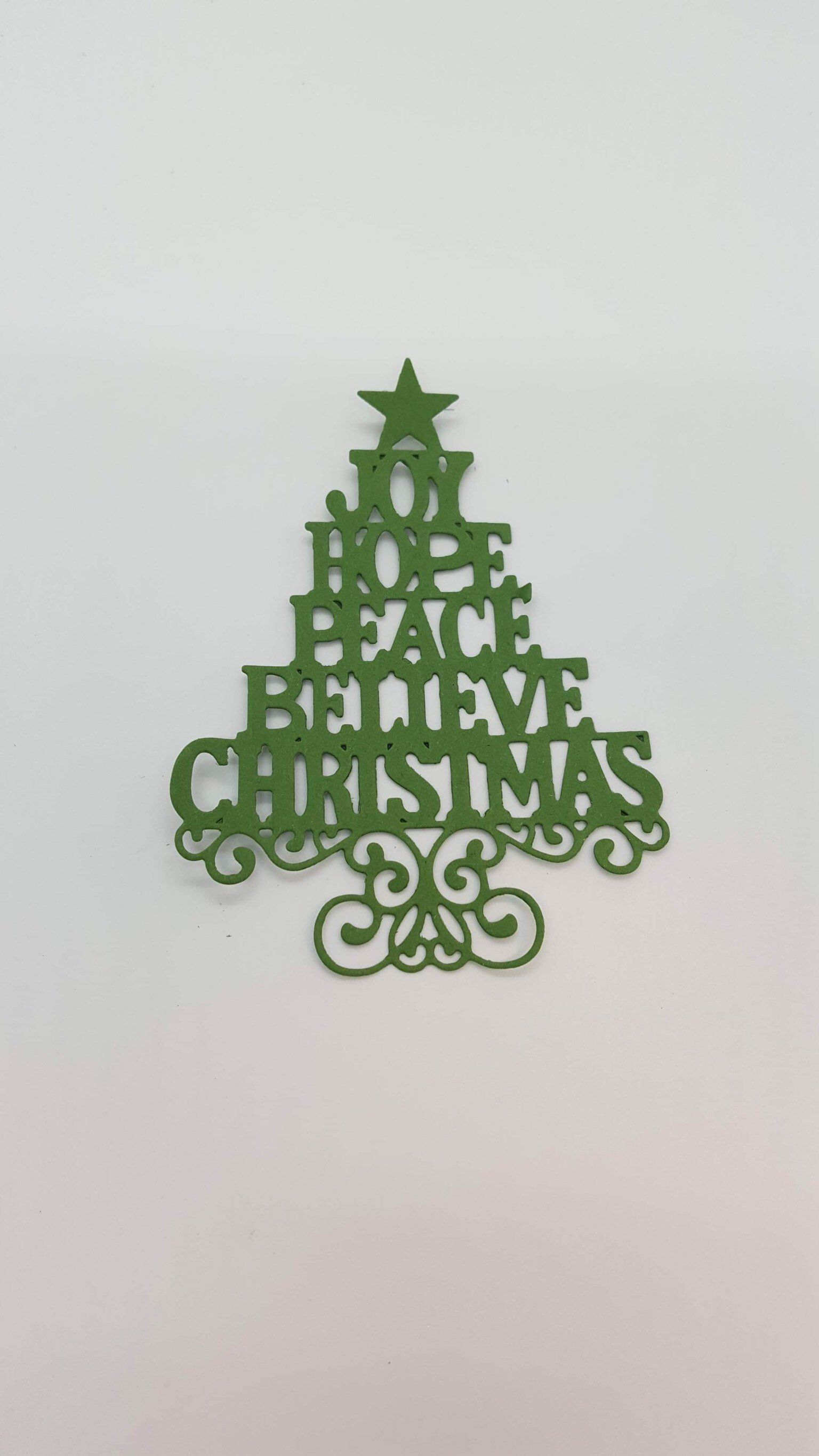 Word Christmas Tree Die Etsy Christmas Tree Christmas Etsy