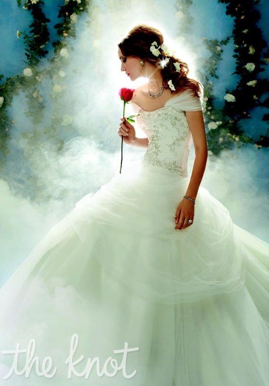 Love The Hair Flowers Gown By Alfred Angelo Disney Weddings