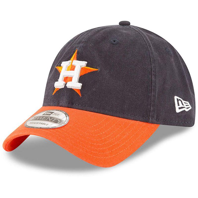 best service f5583 3440f Houston Astros New Era Road Replica Core Classic 9TWENTY Adjustable Hat -  Navy Orange