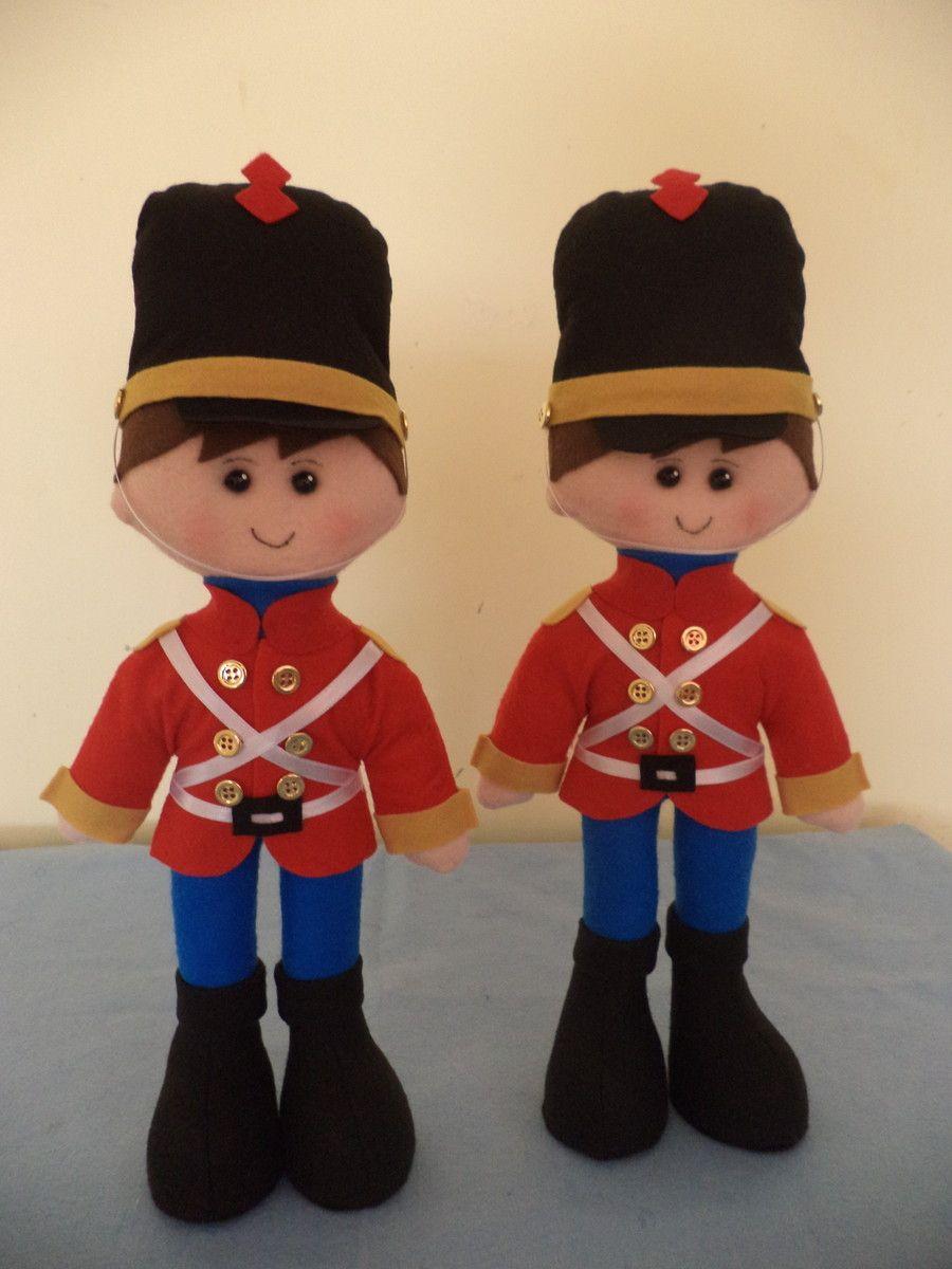 Soldado De Chumbo Tam P Feltro Natal Brinquedos De Feltro