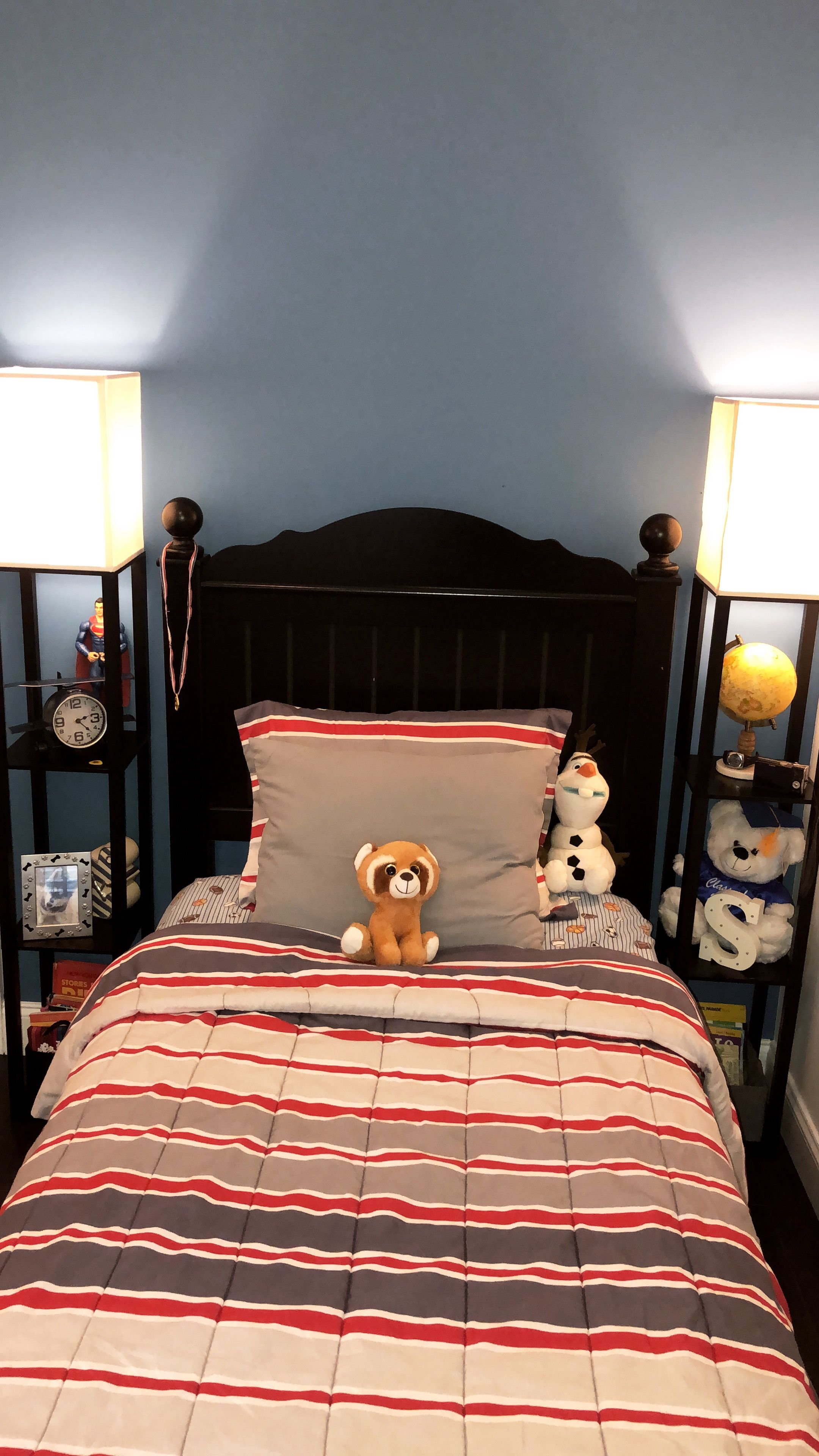 Boy bedroom ideas Accent wall blue accent wall blue bedroom