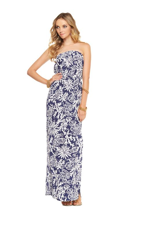 6931bfbac6a1 Emmett Maxi Dress in Bright Navy in the Groove by Lilly Pulitzer. So ready  for boat party!