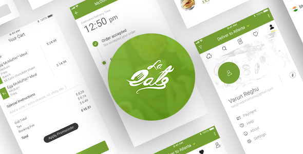 On Demand Food Delivery App Template Delivery app