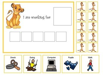 Autism Lion King Token Board