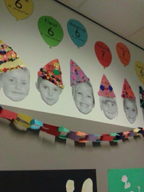 Verjaardagskalender voor in de klas! Prachtige blikvanger! Birthday calendar...