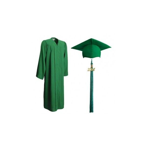 Graduation Cap & Gown | Matte Emerald Green Cap, Gown and Tassel (73 ...