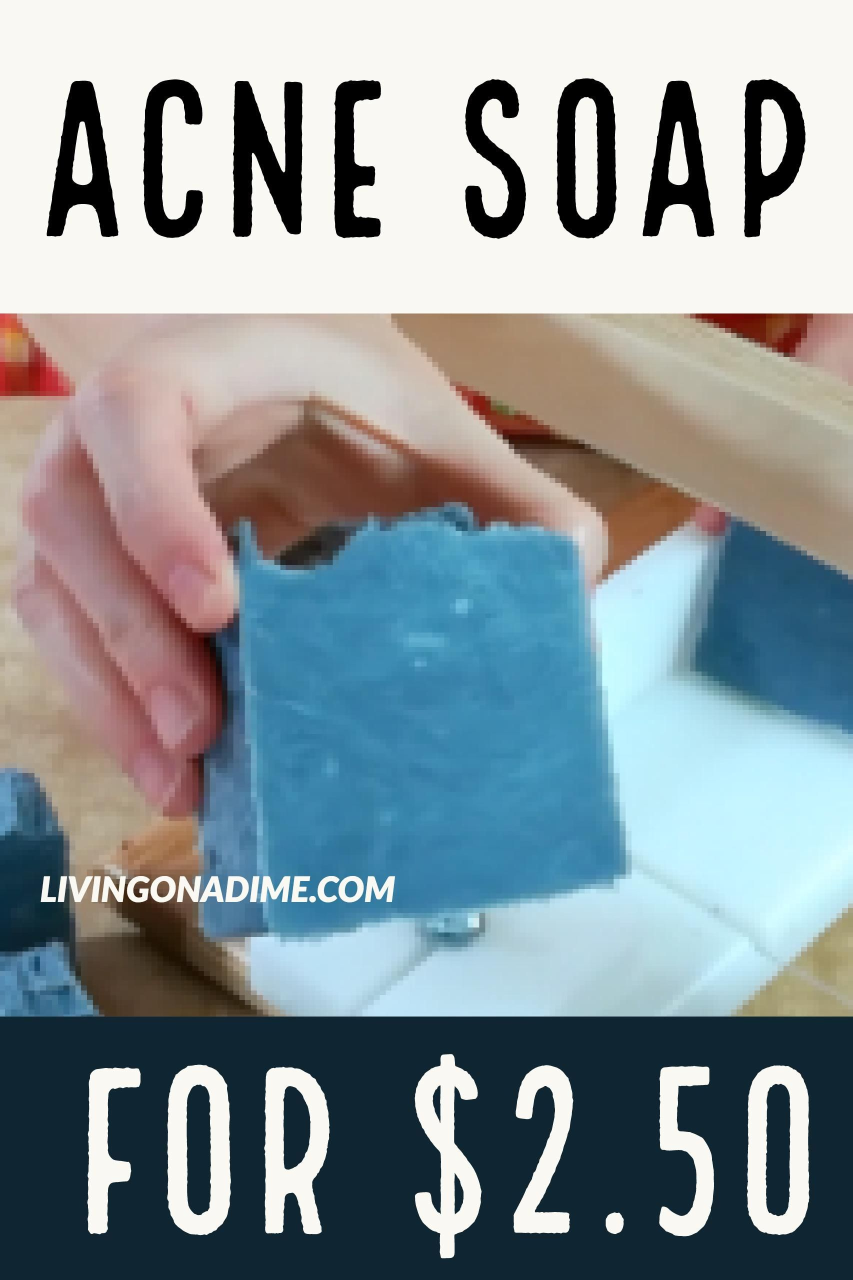 How to make homemade hot process acne soap for just 2.50