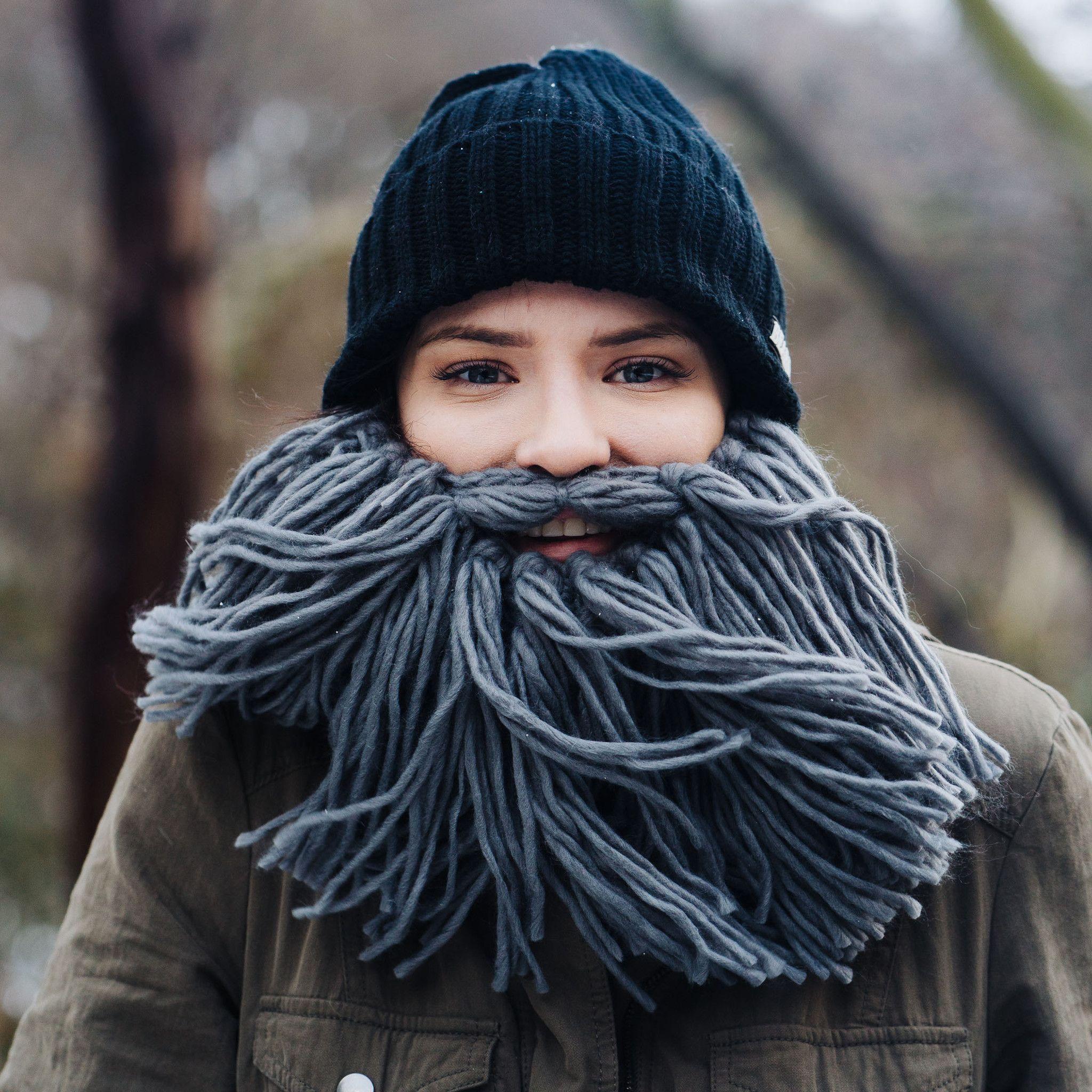 87c3bf449e0 Viking Beard Hat - GREY