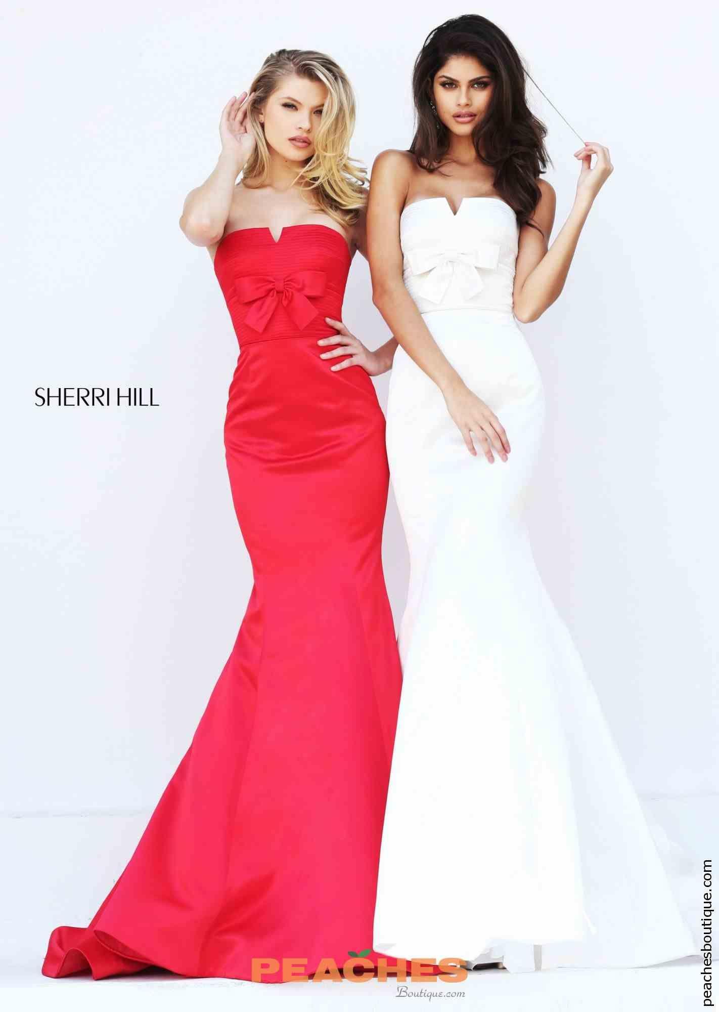 Strapless Long Sherri Hill Dress 50543