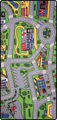 City carpet.You can use with toy cars and little toy people.