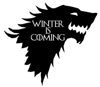 Game of Thrones Winter is Here Truck Car Window Vinyl Decal Sticker 12 COLORS