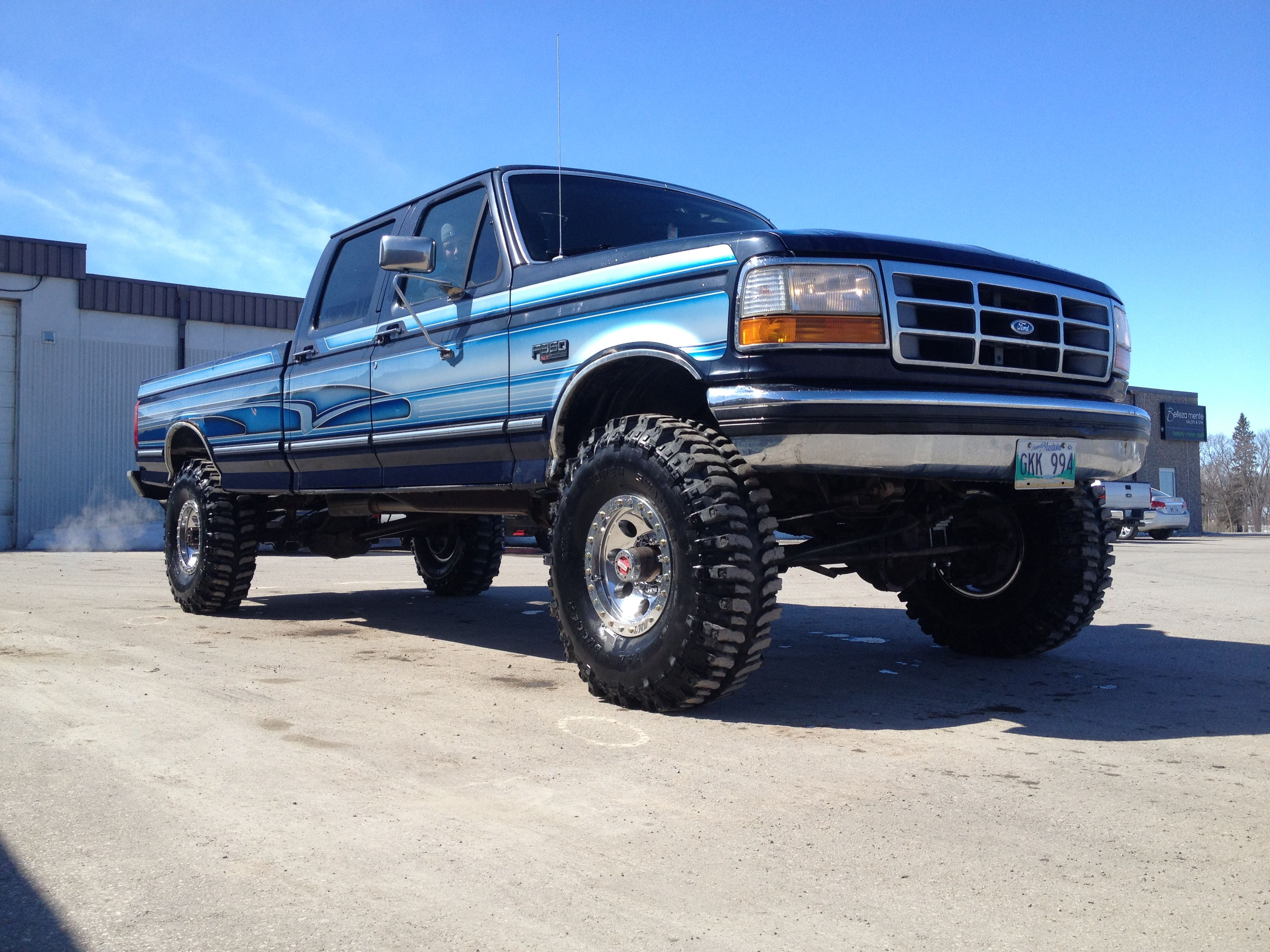My 1993 F350 Big Blue Classic Truck Ford Trucks Old Fords