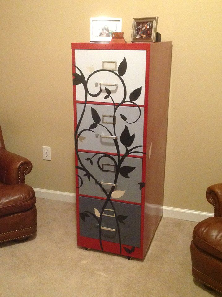 My Diy Filing Cabinet Crafts Office Decor Painted