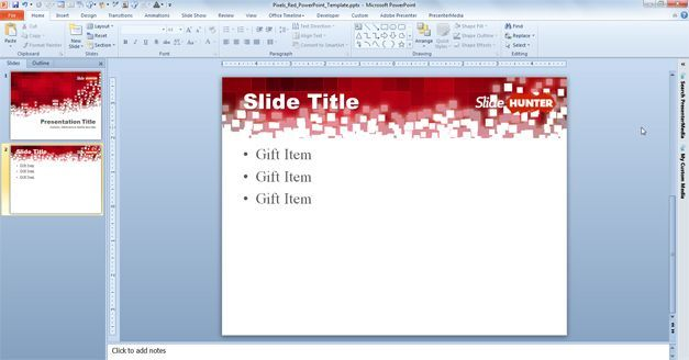 powerpoint template size pixels - pixels red powerpoint template ppt templates pinterest