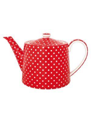 Polka dot teapot
