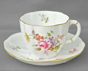 Royal Crown Derby vintage china tea cup & saucer duo Derby Posies c1964-75    I actually have this set!!  So pretty.