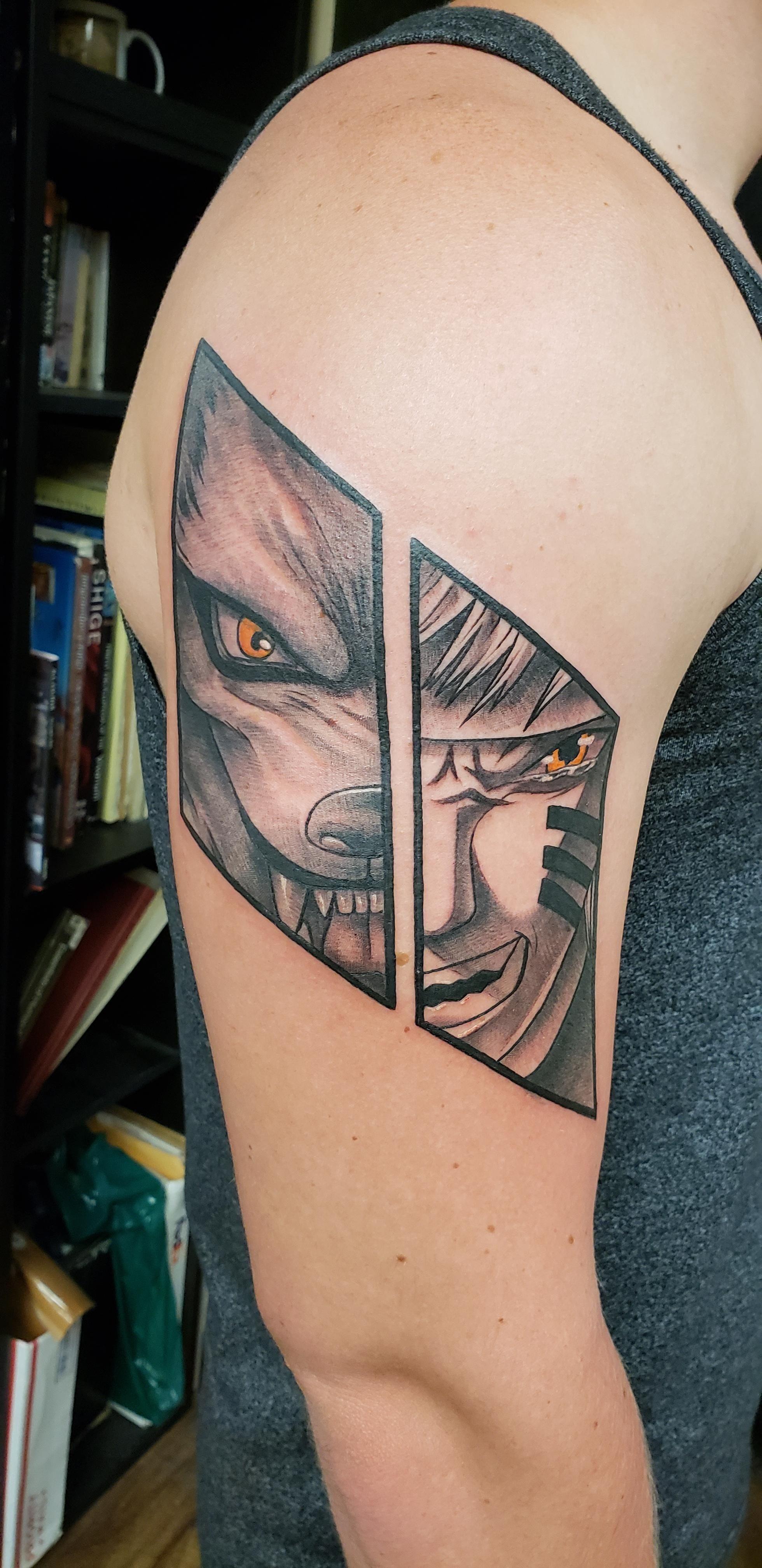 Naruto/ Nine tailed fox Skin deep tattoo waikiki courtesy of Jen Bradbury