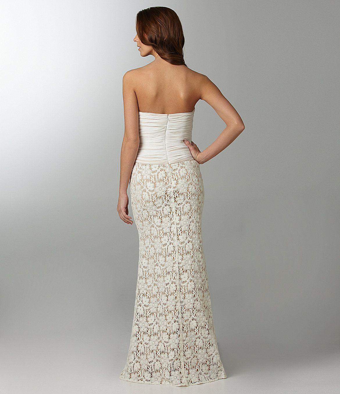 Wedding dresses dillards  JS Collections Strapless Gown  Dillards  wedding dress  shoes