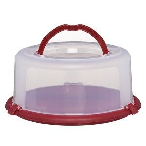 Cake Carrier Target Amazing Chefmate Round Cake Carrier  Clear Red 2 Pc  I Want That 2018