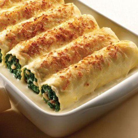 Canelones de espinacas: receta fácil y rápida - Sa