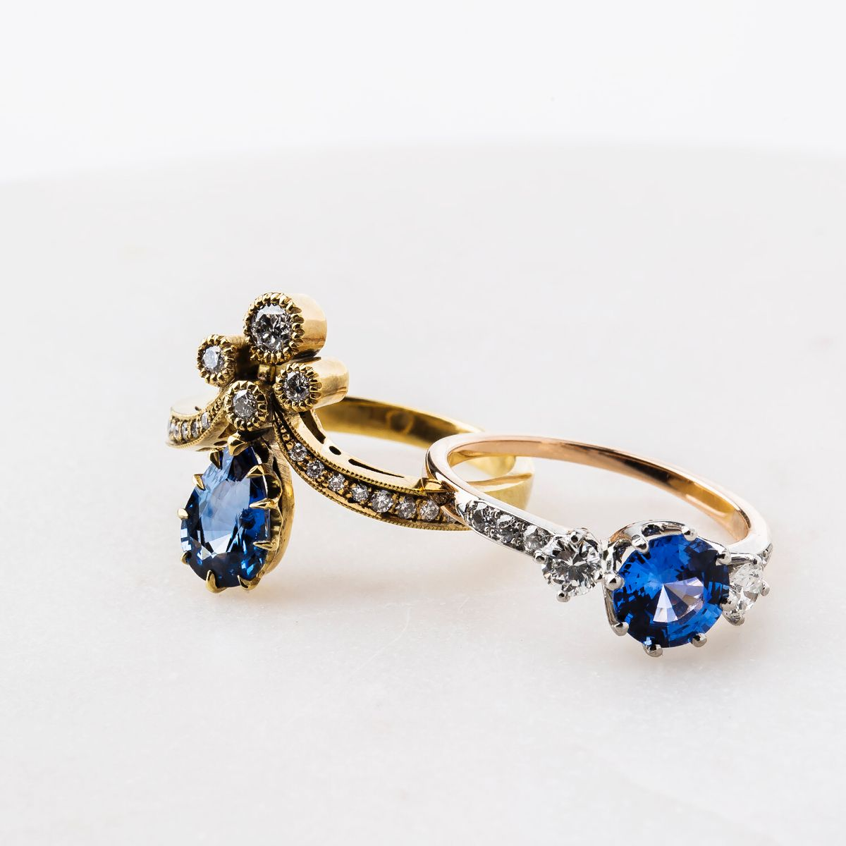 Sapphire Love in 2020 Vintage engagement rings unique