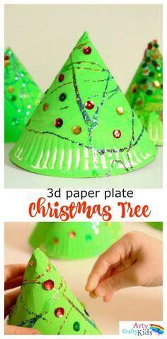 Super Fun 3d Paper Plate Christmas Tree Craft & Super Fun 3d Paper Plate Christmas Tree Craft | 3d paper Tree ...