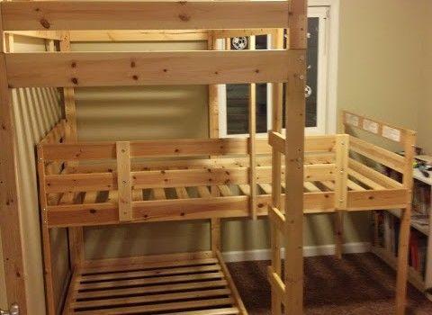 Best Triple Bunk Hack Mydal Bunkbeds Bunk Bed Plans Triple 400 x 300