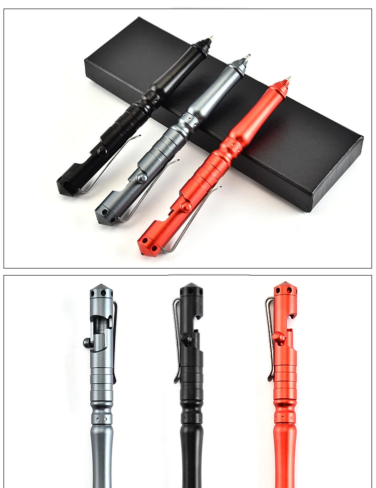 New Christmas Gift Self Defense Tactical Pen Bolt Switch Emergency Glass Breaker Portable Outdoor Survival Tool For Men Wome Tactical Pen Tactical Self Defense