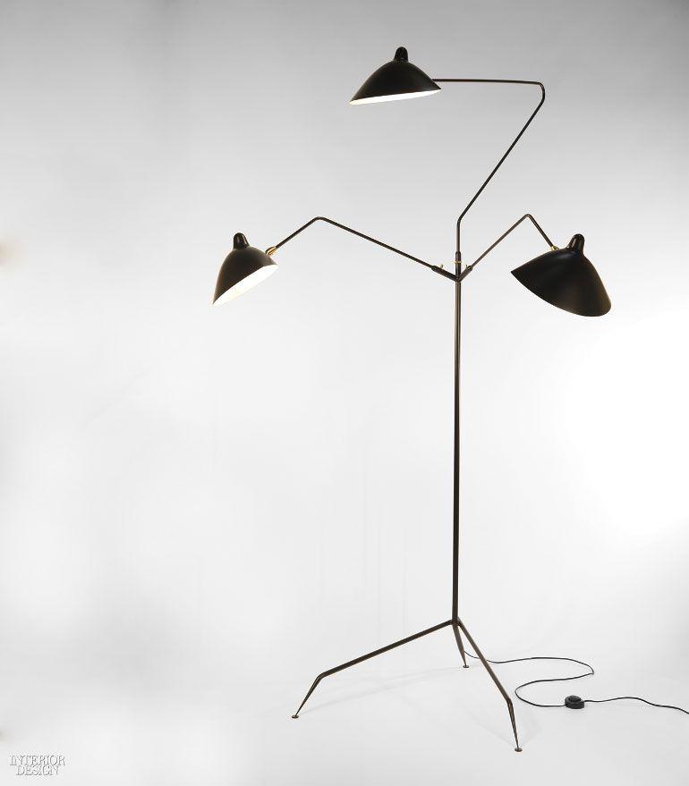 Gueridon S Les Luminaires De Serge Mouille Revives The French Designer S Iconic Lamps Standing Lamp Floor Standing Lamps Serge Mouille Light