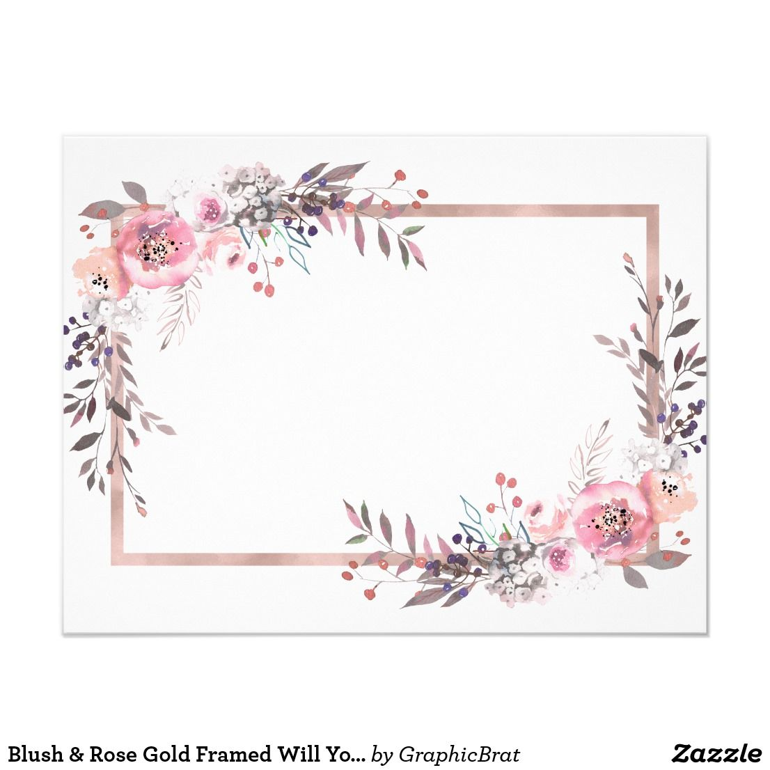 also blush  rose gold framed will you be my bridesmaid rh pinterest