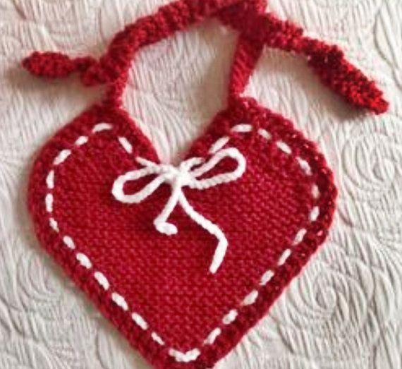 Hope Baby Bib Pdf Knitting Pattern By Villagegreenarts On Etsy
