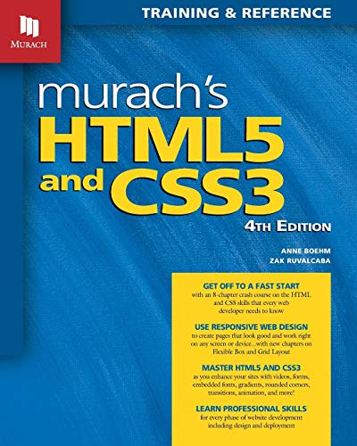 Murach S Html5 And Css3 4th Edition By Anne Boehm Mike Murach Associates In 2020 Android Programming Pdf Books Ebook Pdf
